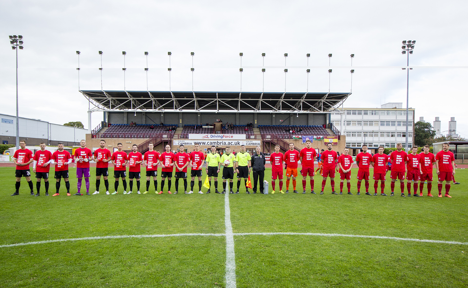 The Nomads support Show Racism the Red Card Campaign