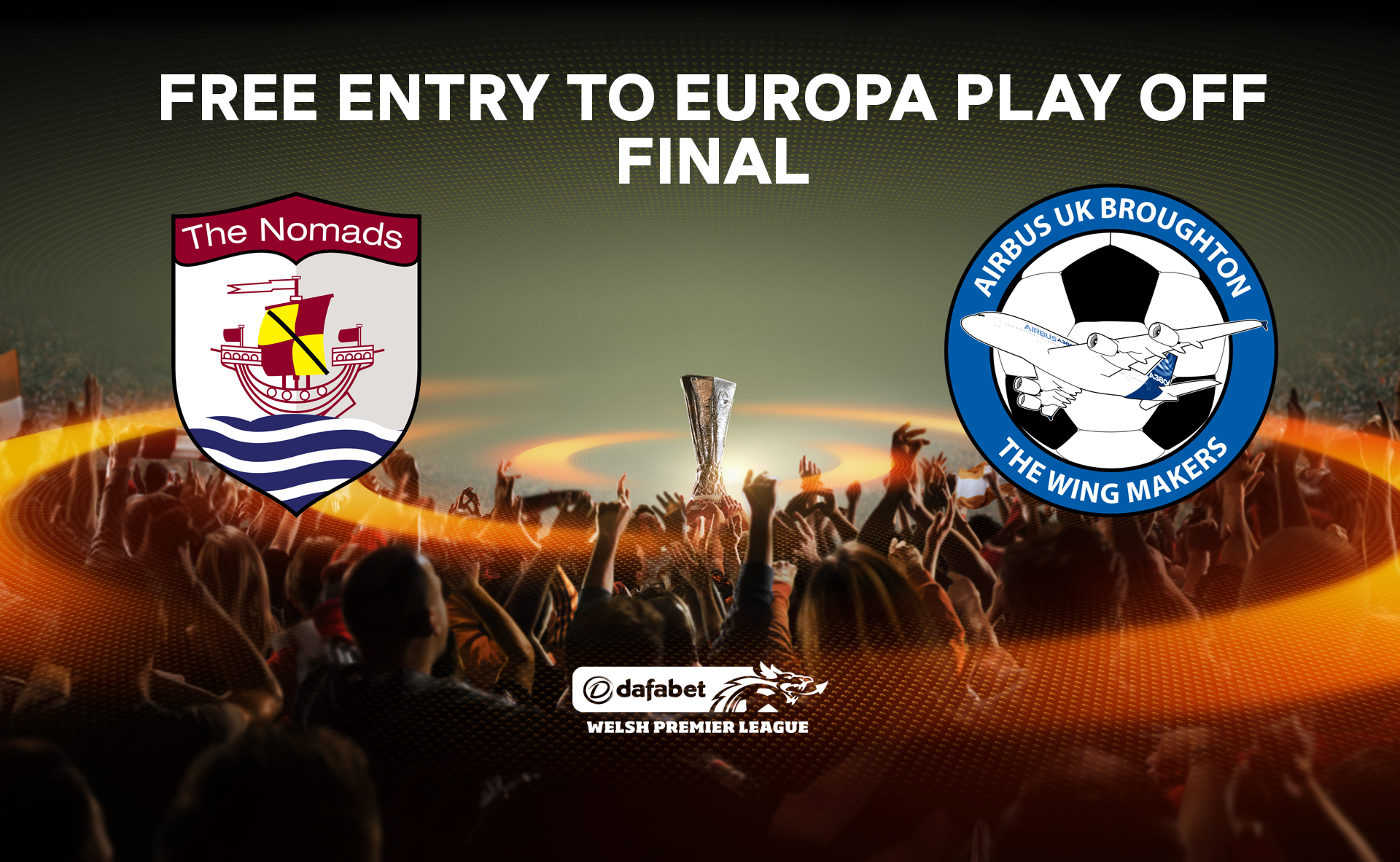 Free entry to Europa Play Off Final