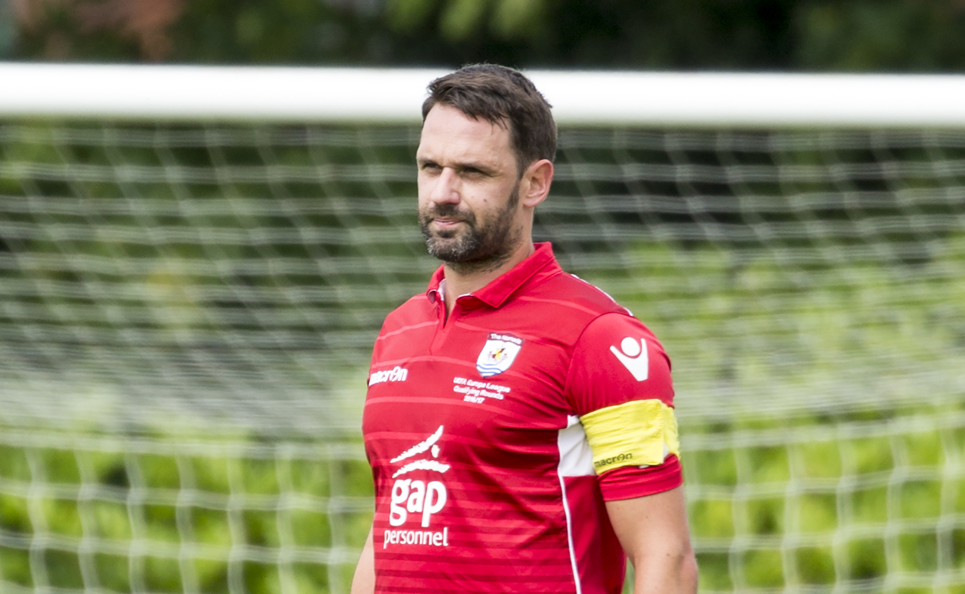 Paul Linwood in his final match for The Nomads against Salford City