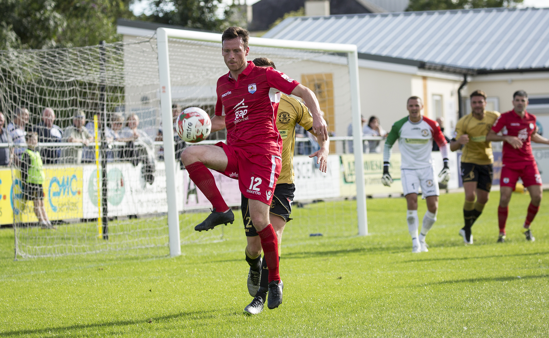 Matty Williams makes his debut for The Nomads against Carmarthen Town - © - NCM Media