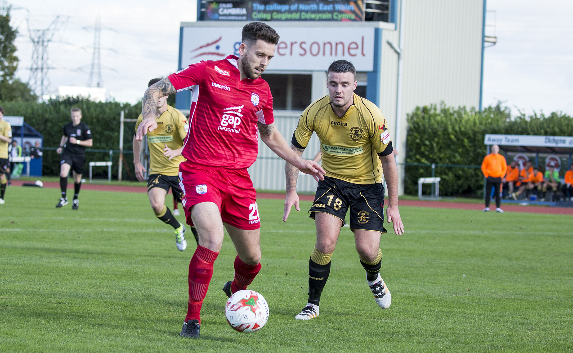 Wes Baynes takes on the Carmarthen defence - © NCM Media