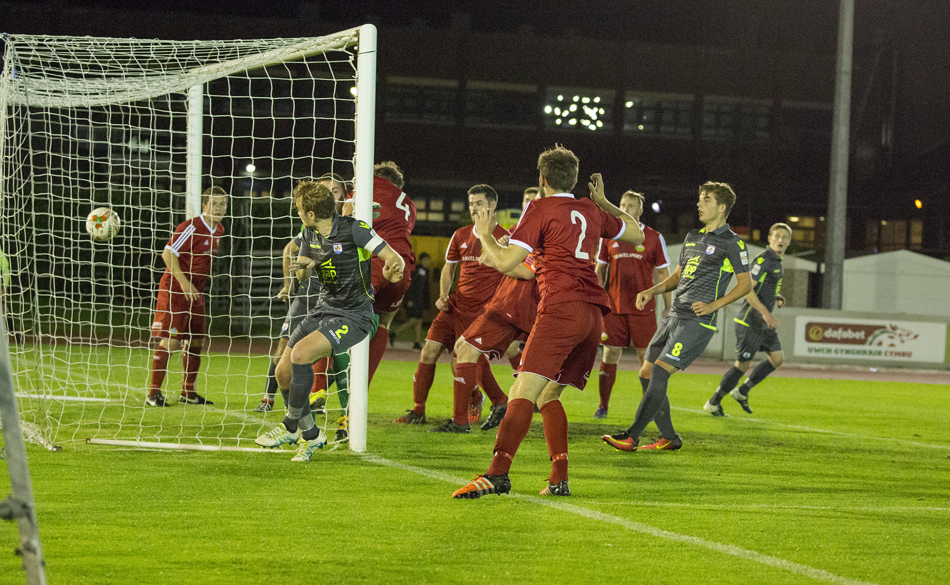 John Disney opens the scoring for The Nomads on the 37th minute - © NCM Media