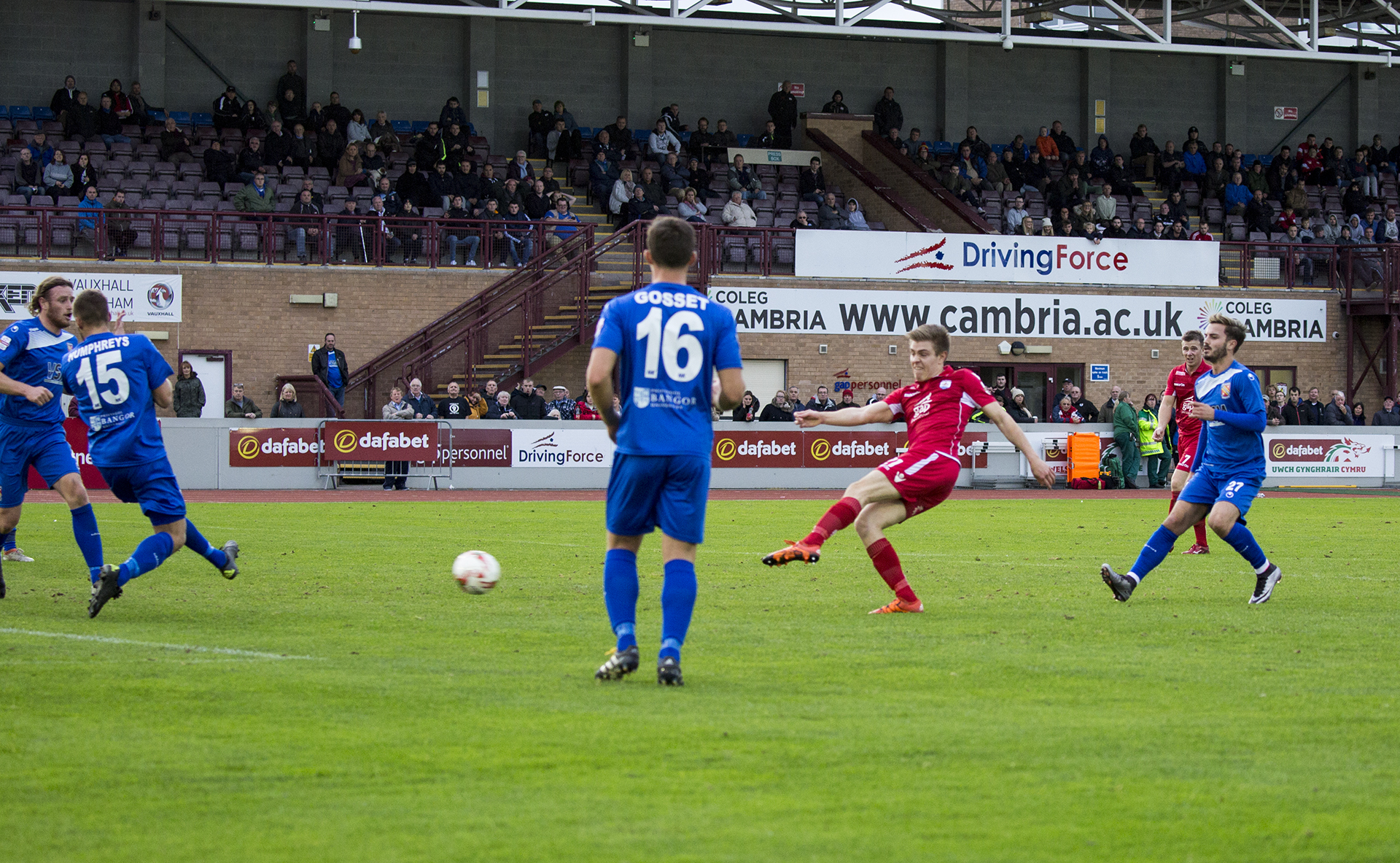 Lewis Short unleashes a shot in the second half - © NCM Media