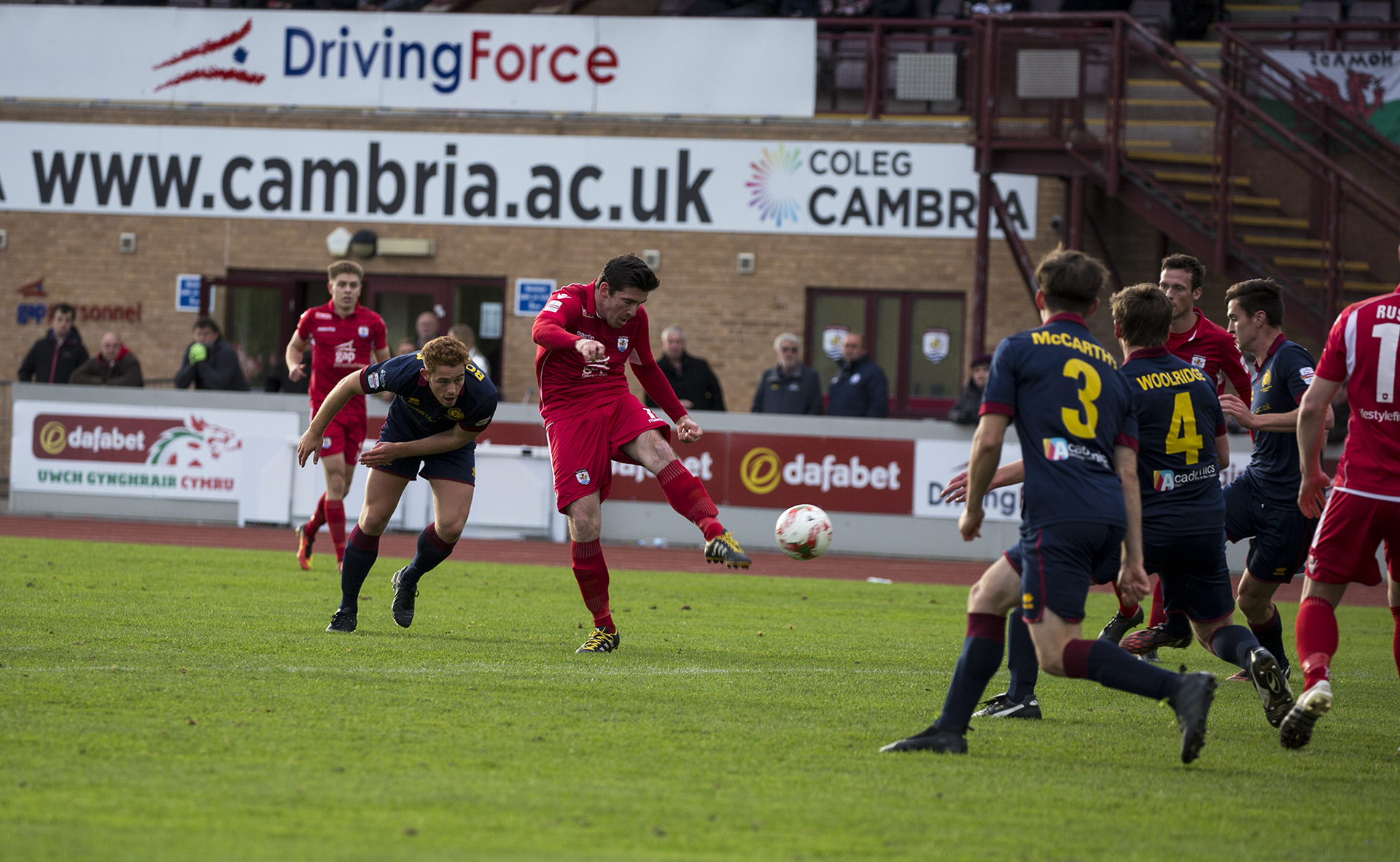 Matty Owen strikes wide in the second half for The Nomads - © NCM Media