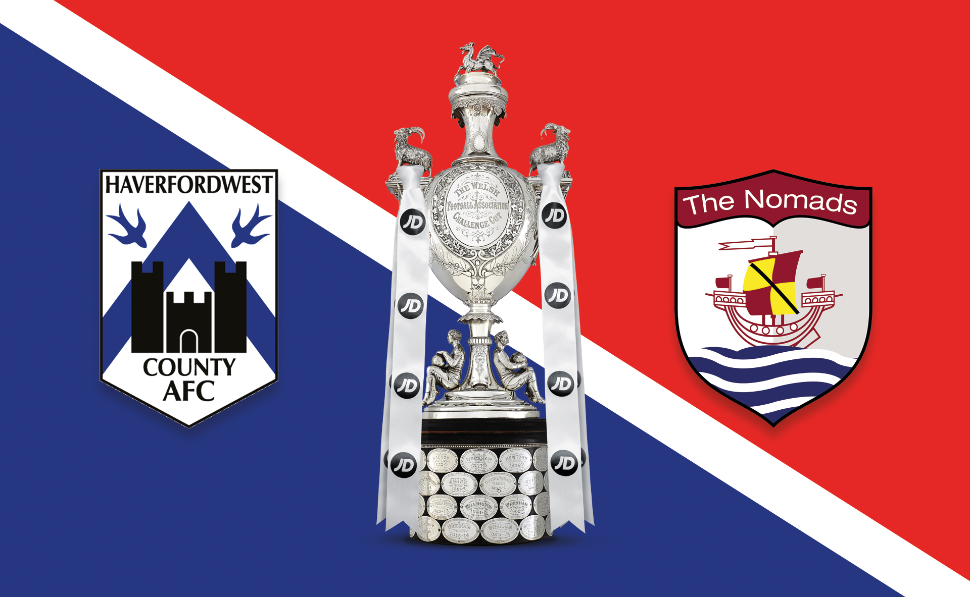 Haverfordwest County vs gap Connah's Quay Nomads - JD Welsh Cup Fourth Round