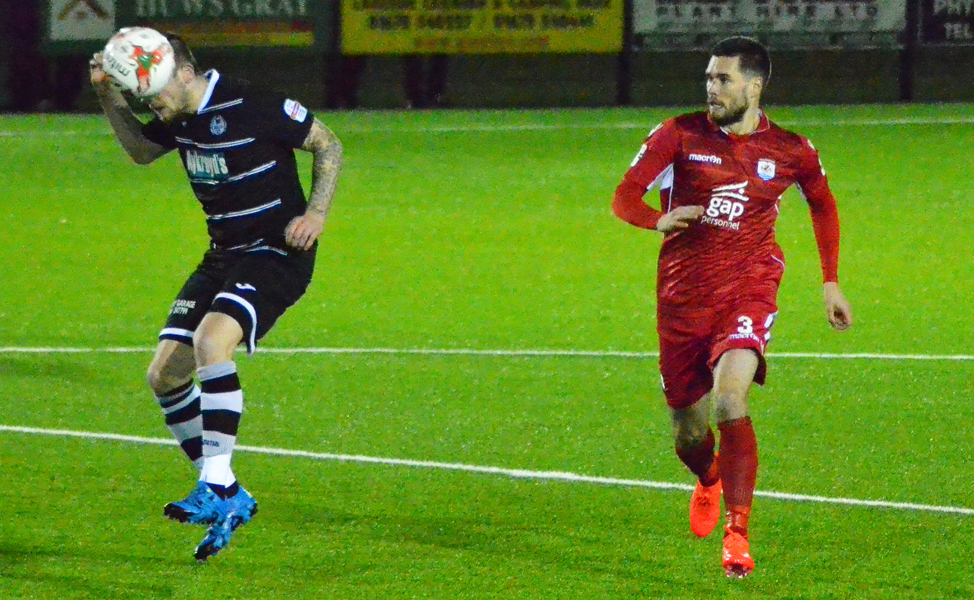 Kai Edwards makes his Nomads debut - Photo courtesy of Bala Town FC