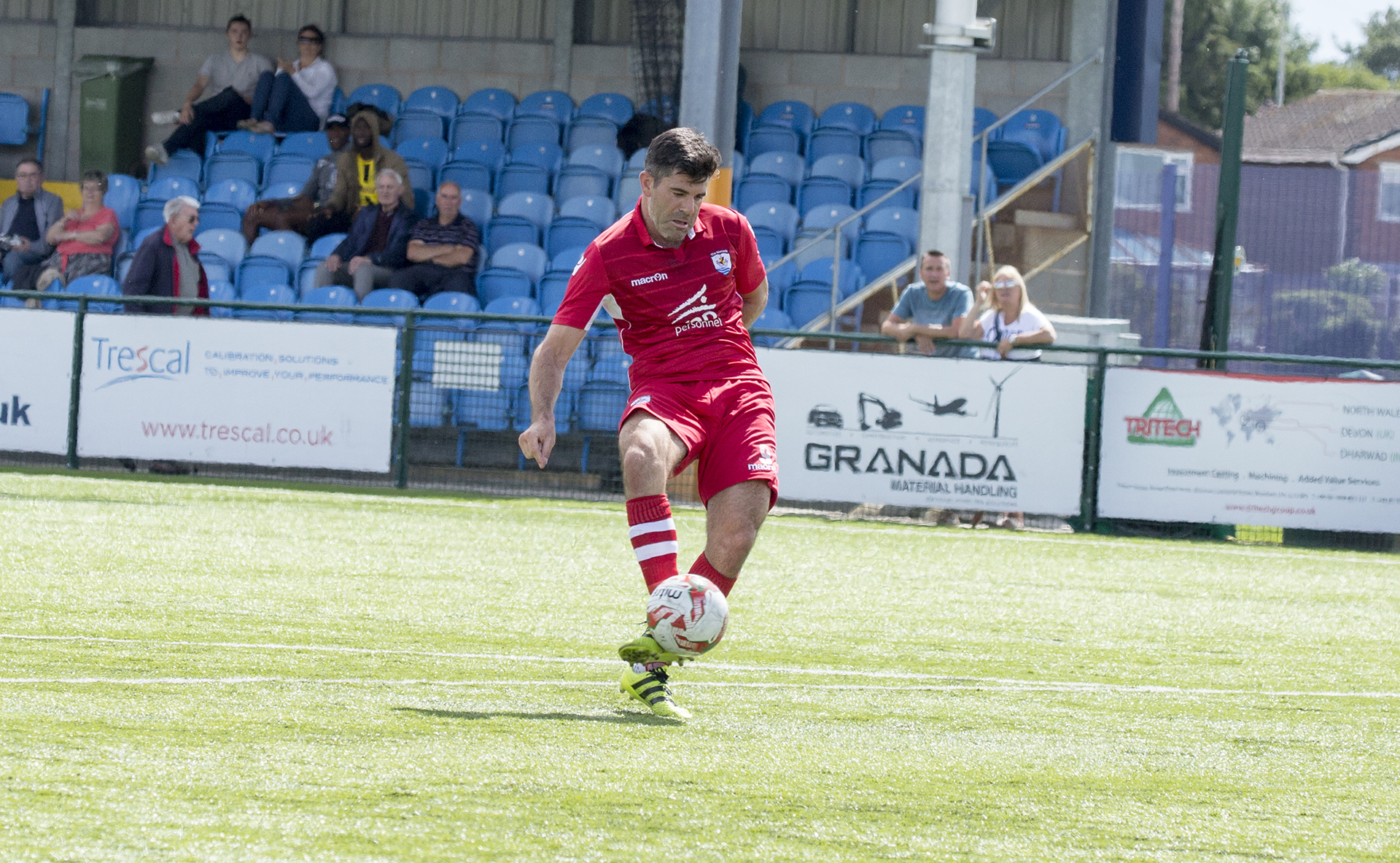 Michael Wilde gives The Nomads a 1-0 lead - © NCM Media