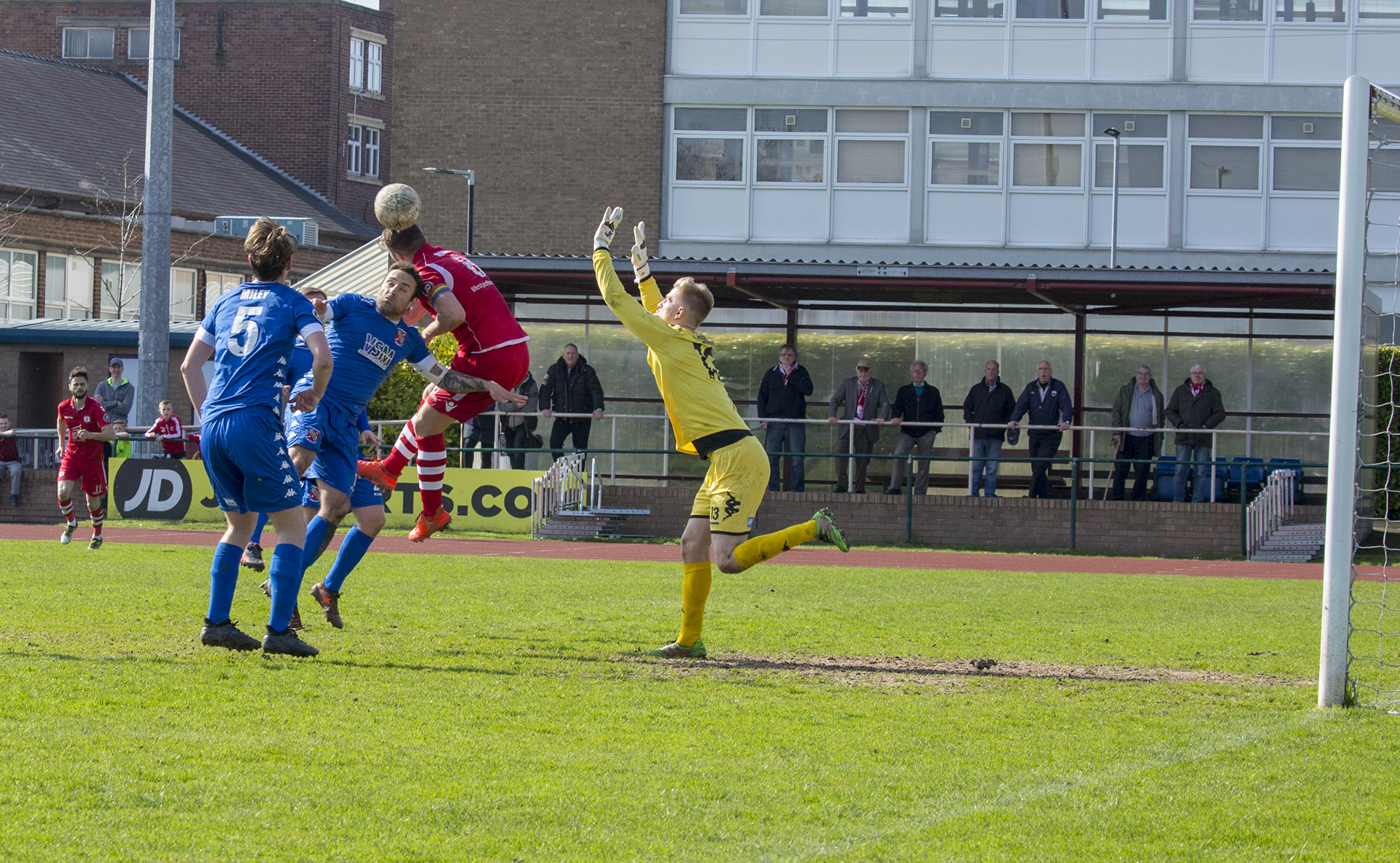 Callum Morris gives The Nomads the lead in he 58th minute - © NCM Media