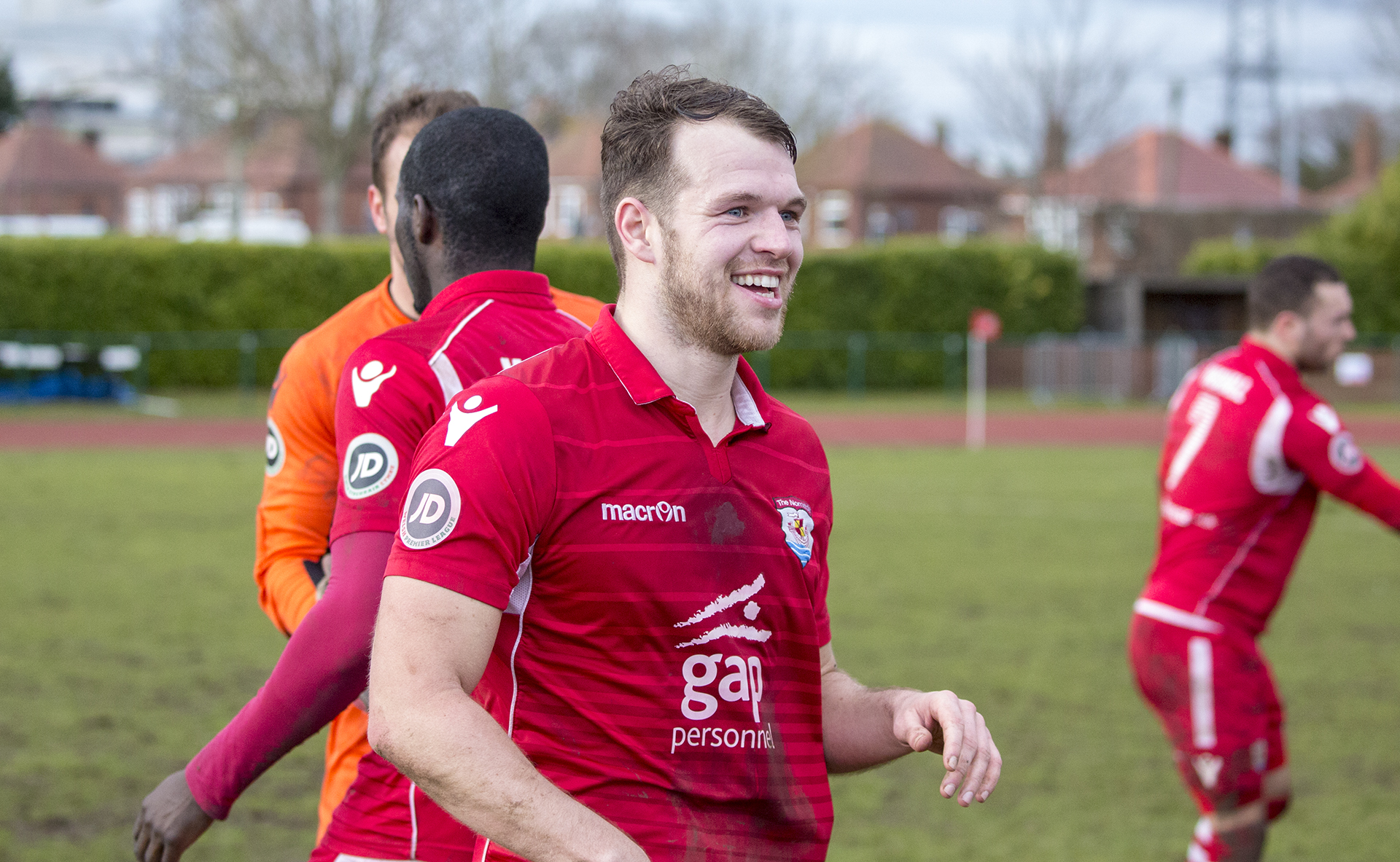 Callum Morris pictured after The Nomads' 2-1 victory over Cefn Druids - © NCM Media