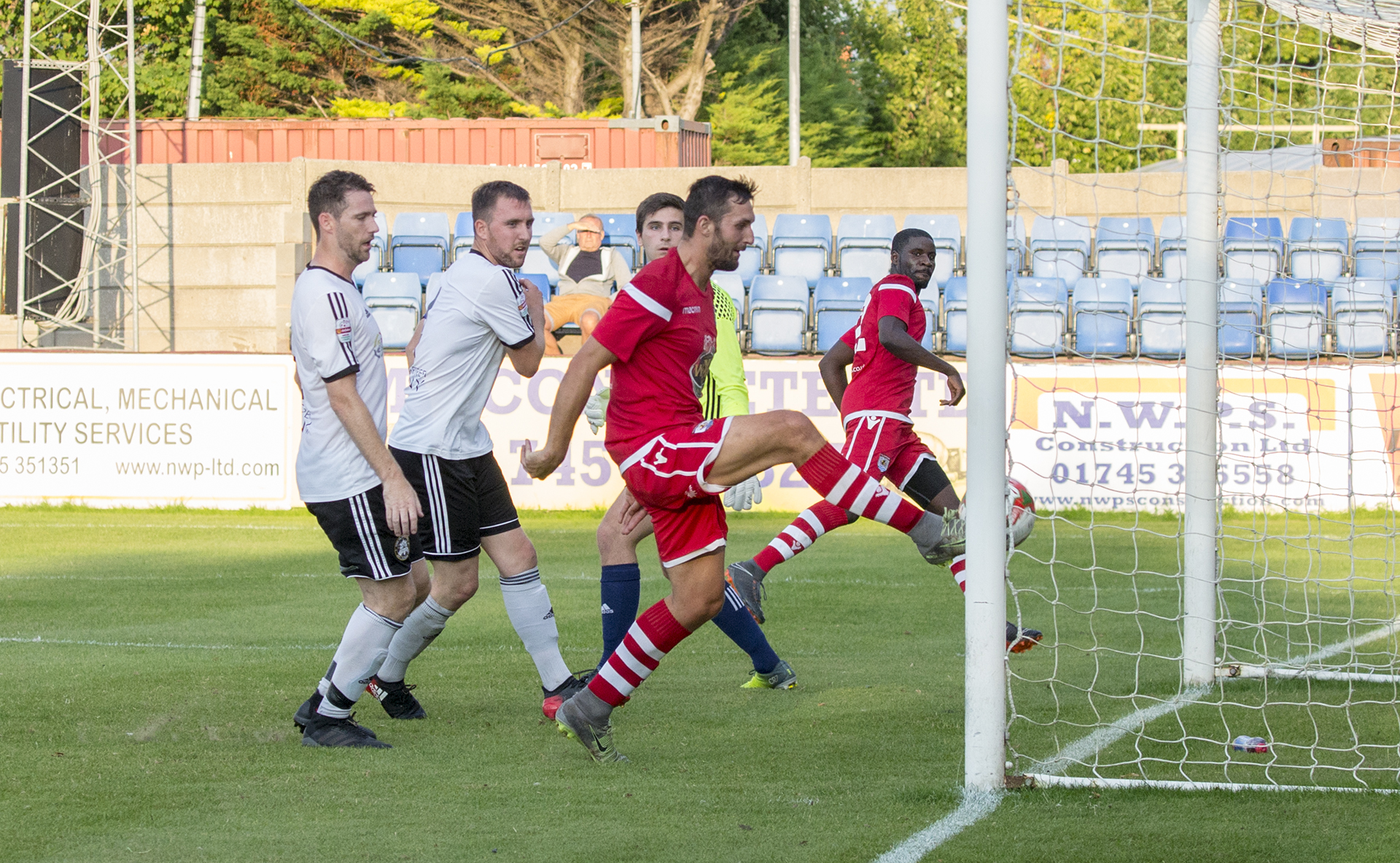 Andy Owens sees the first of his two disallowed goals ruled out © NCM Media