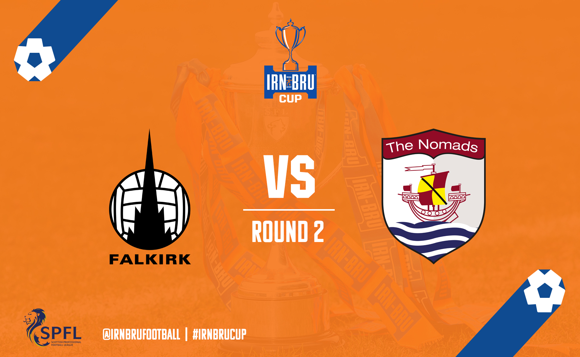 Falkirk vs Connah's Quay Nomads | Irn Bru Cup Second Round