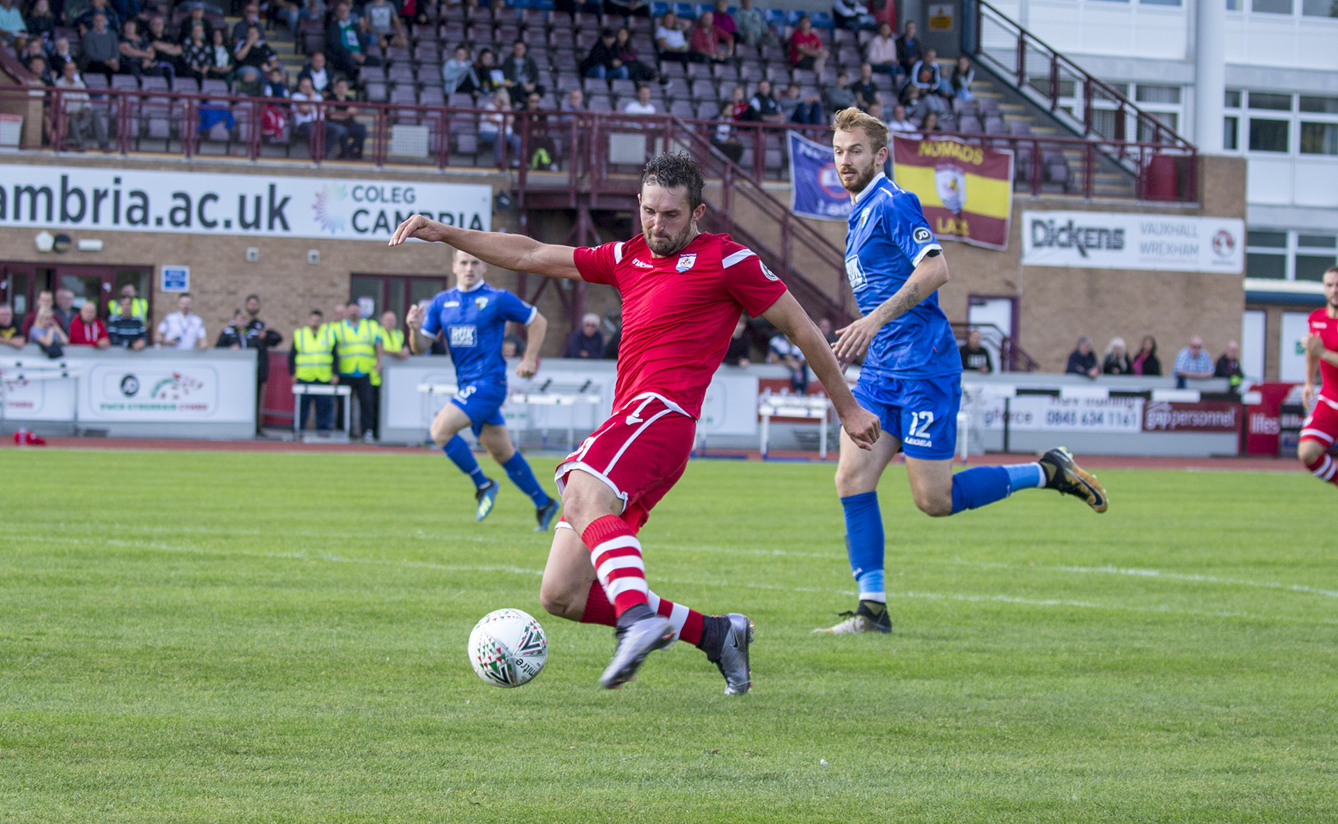 Andy Owens strike to give The Nomads the lead early in the second half © NCM Media