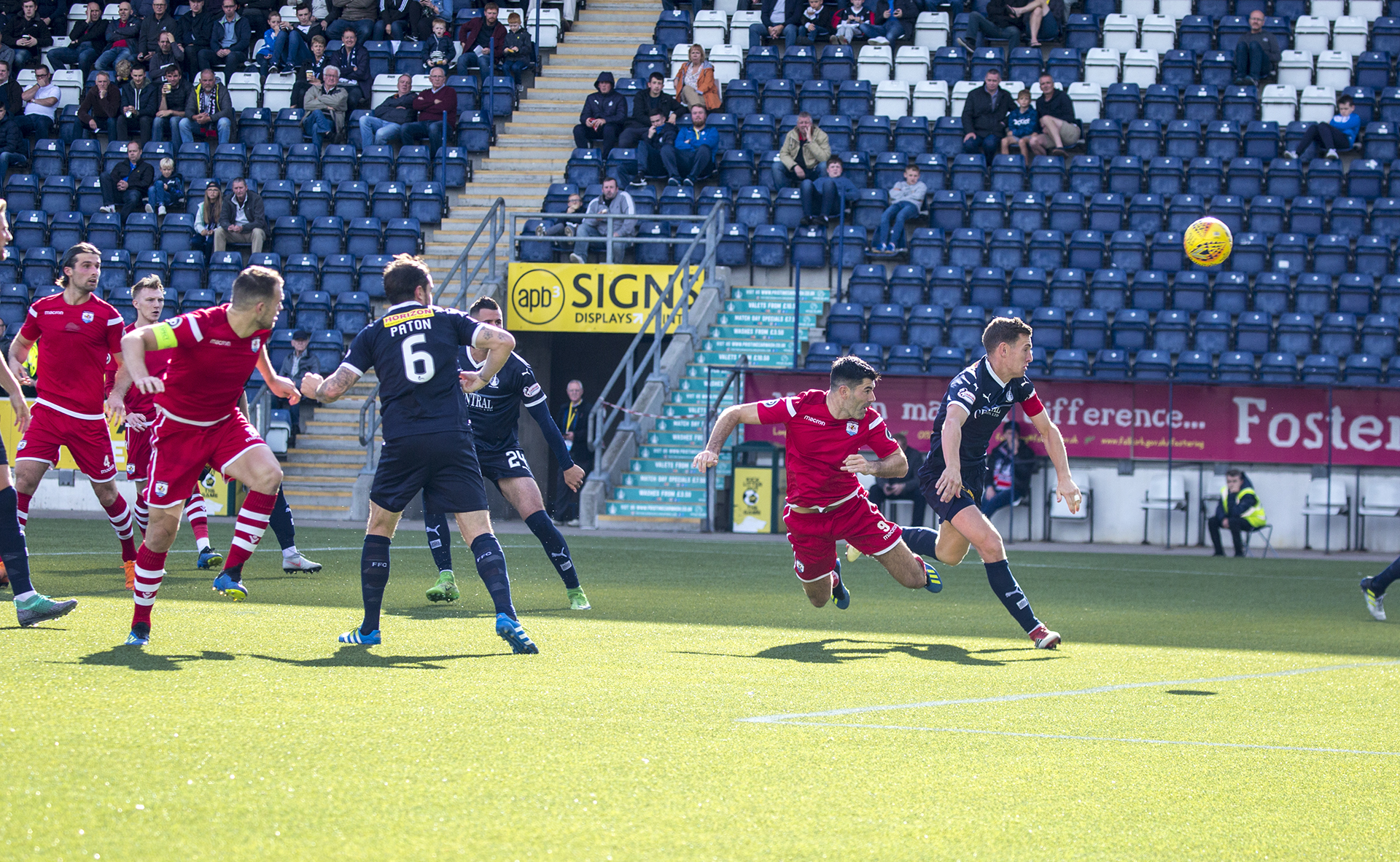 Michael Wilde heads The Nomads ahead in the 46th minute © NCM Media