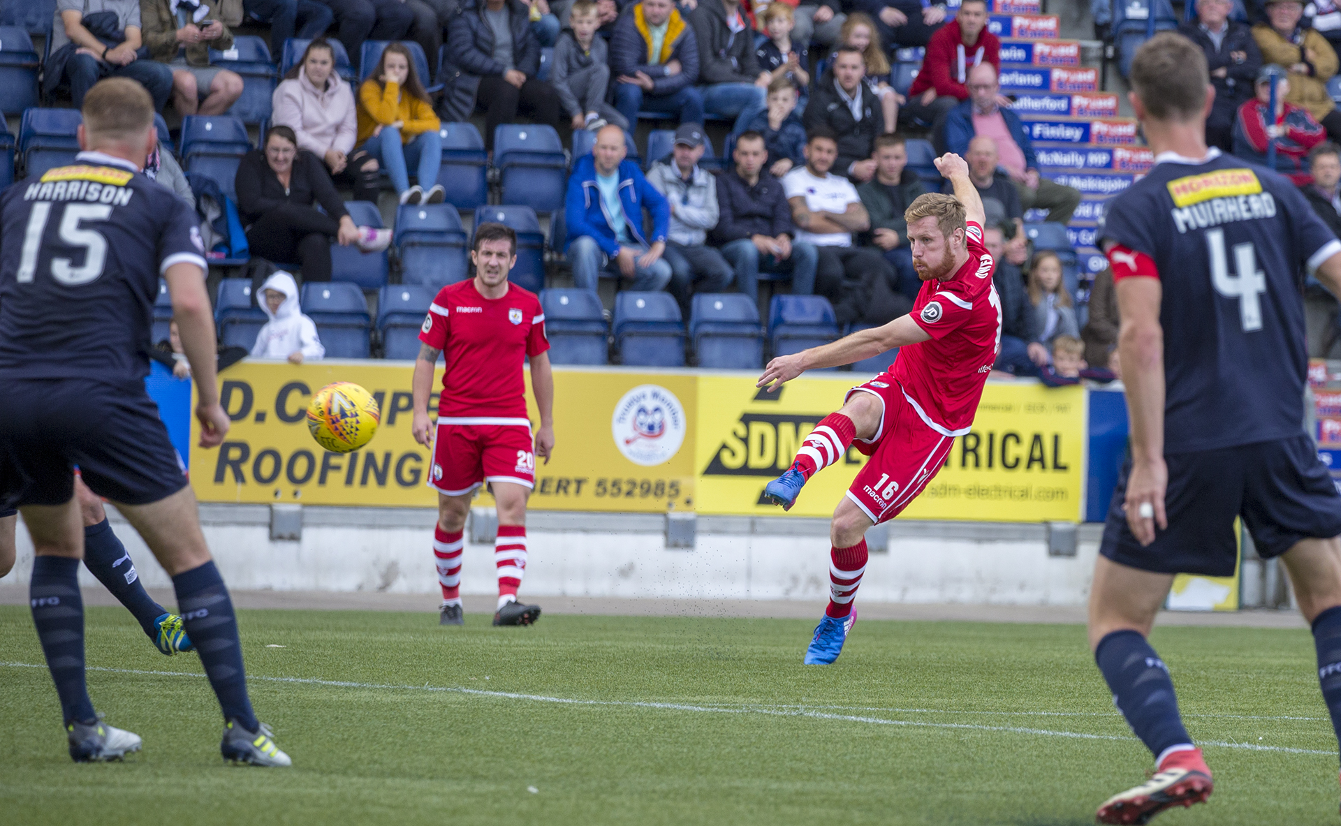 Jay Owen shoots for goal in the first half © NCM Media