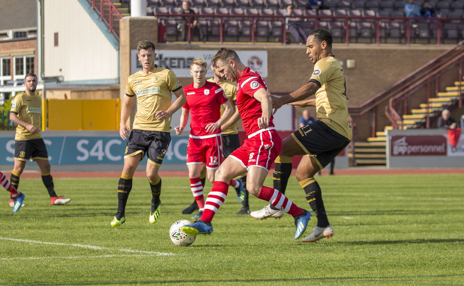 Callum Morris sends a first half effort goalwards © NCM Media