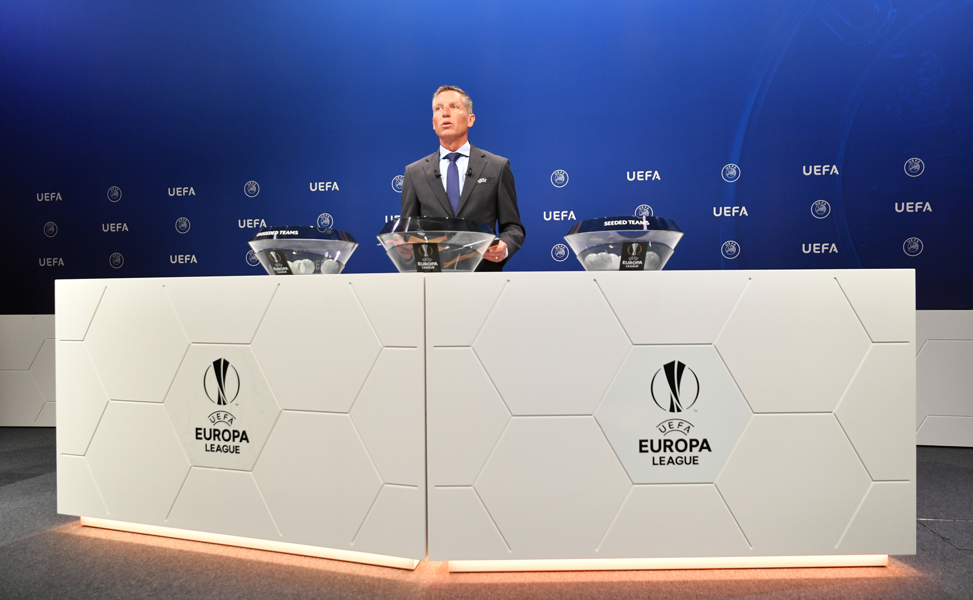 Action from the 2019-20 UEFA Europa League Preliminary Round Draw