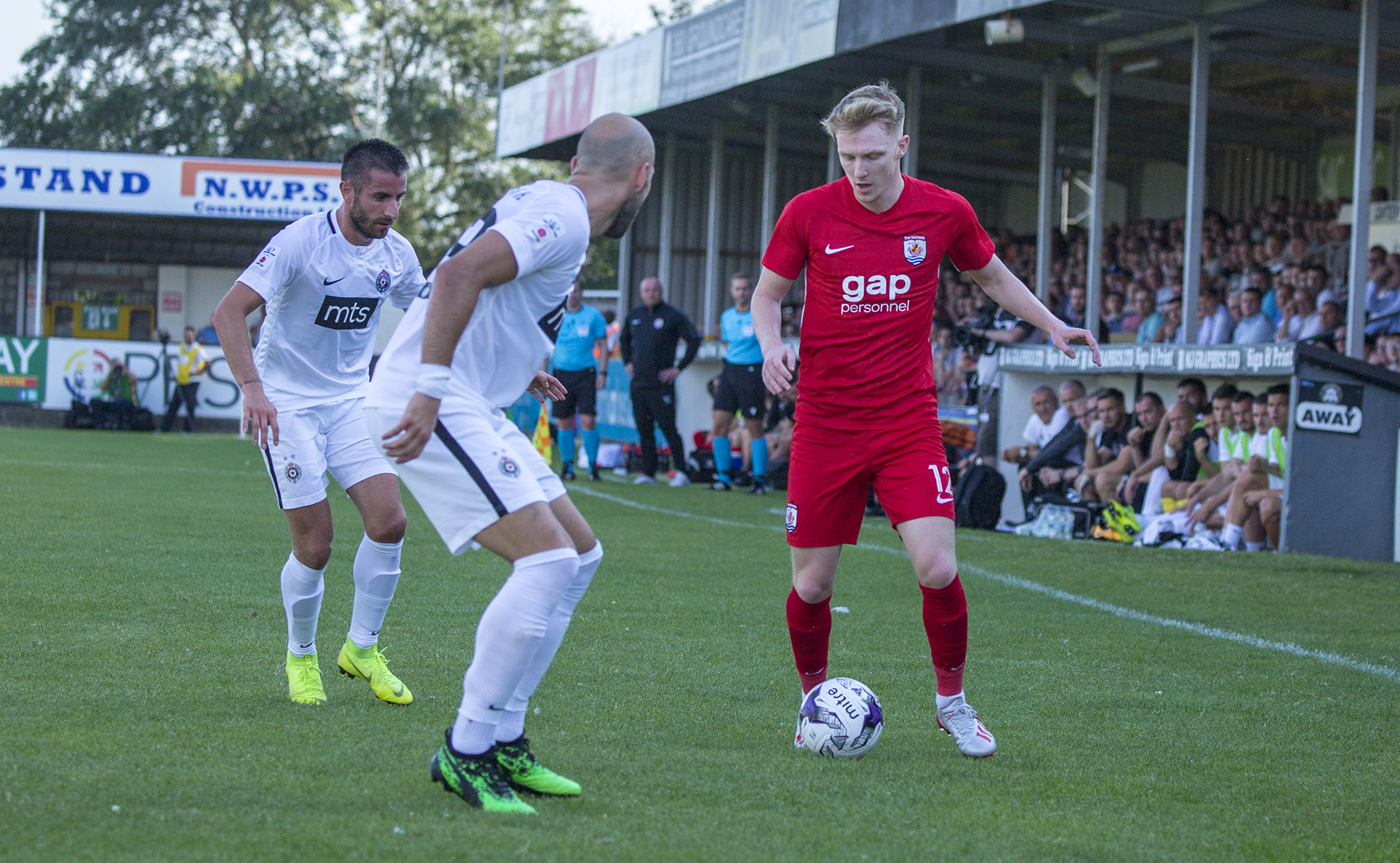 Declan Poole looks to get the better of the Partizan defence | © NCM Media
