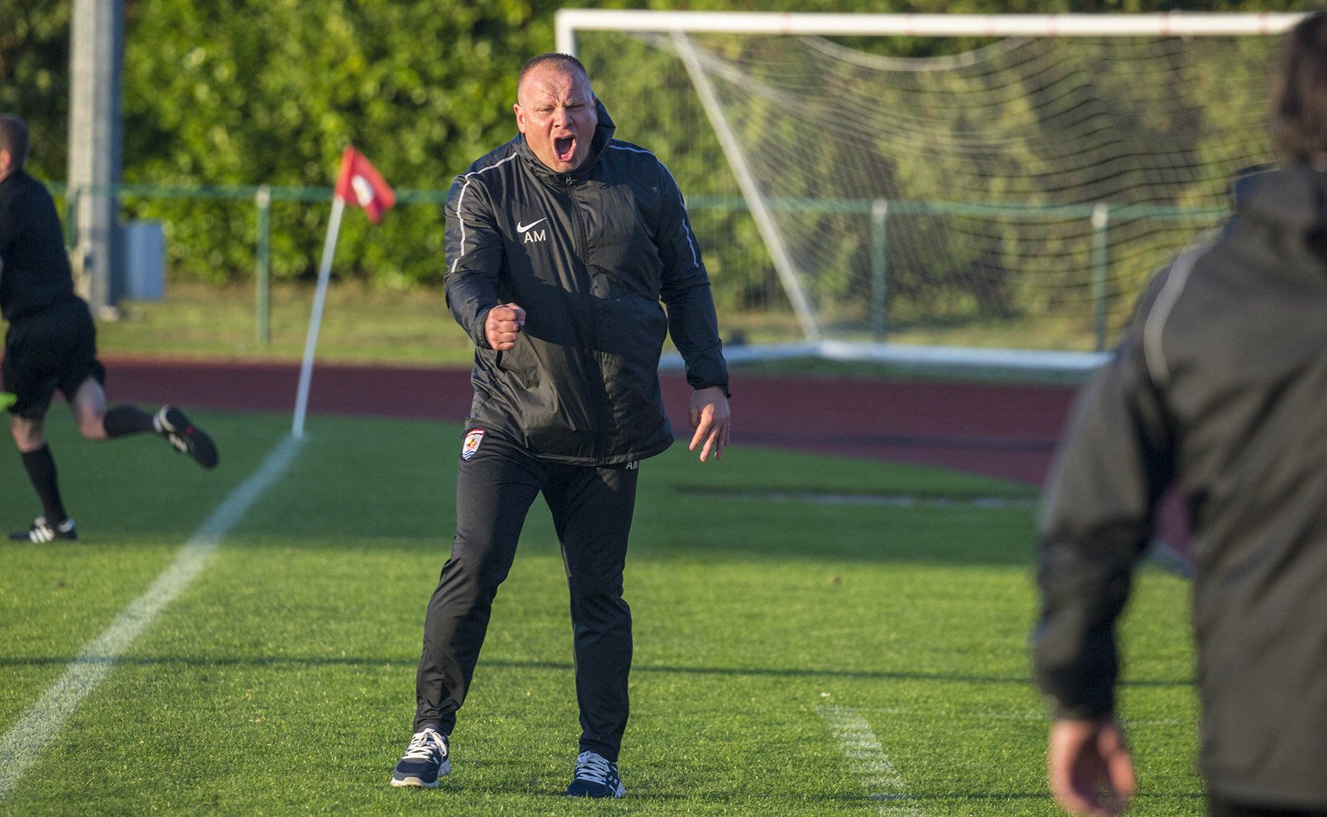 Andy Morrison celebrates at full time | © NCM Media