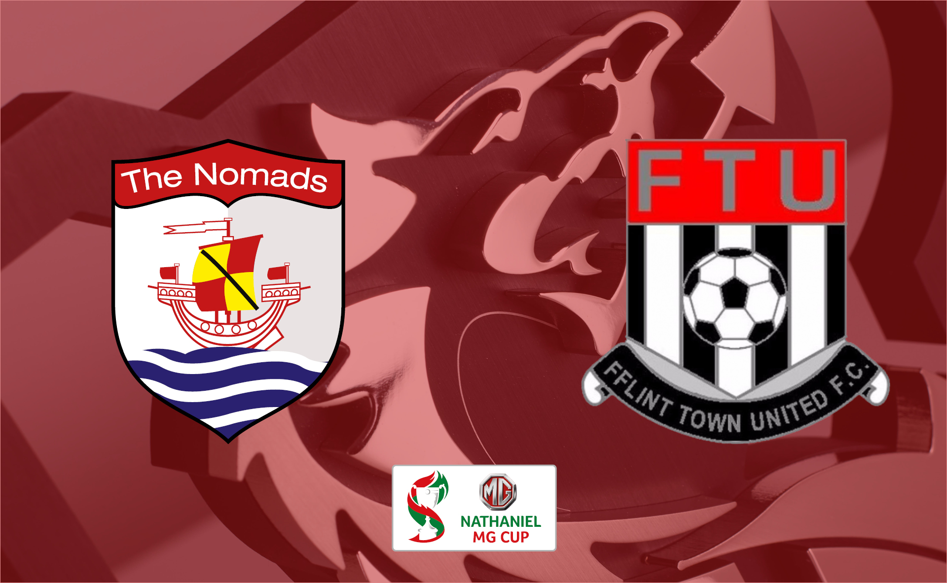 Connah's Quay Nomads vs Flint Town United in the Nathaniel MG Cup Quarter Finals