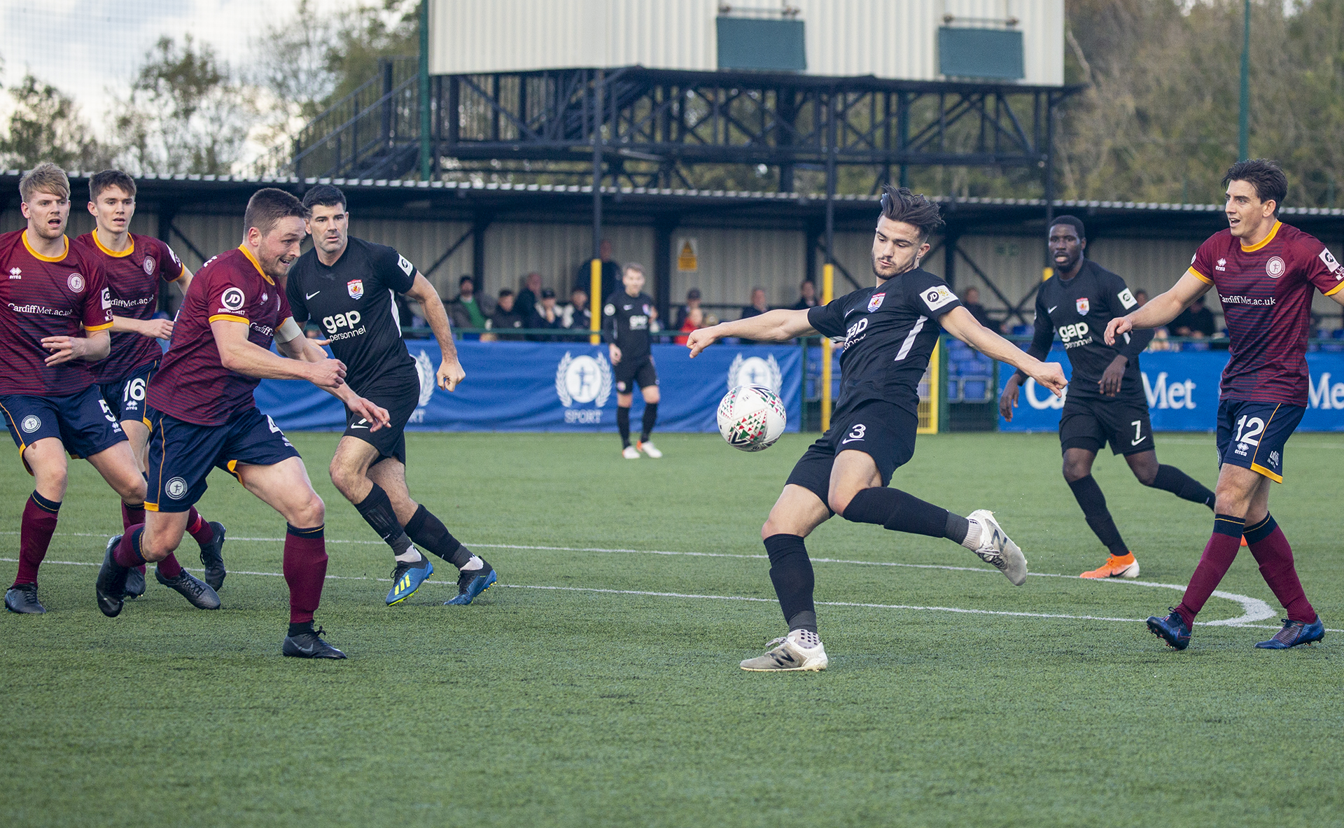 Callum Roberts shoots for goal in the first half | © NCM Media