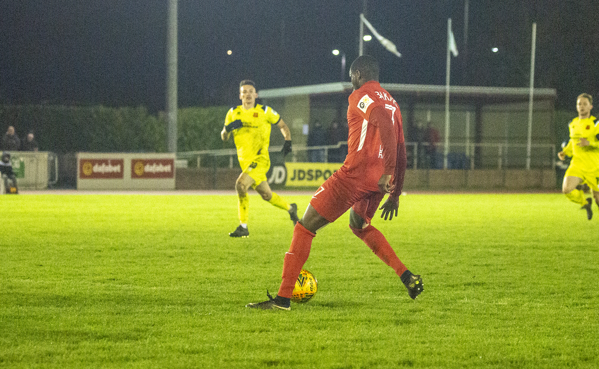 Michael Bakare coolly slots home late in the second half | © NCM Media