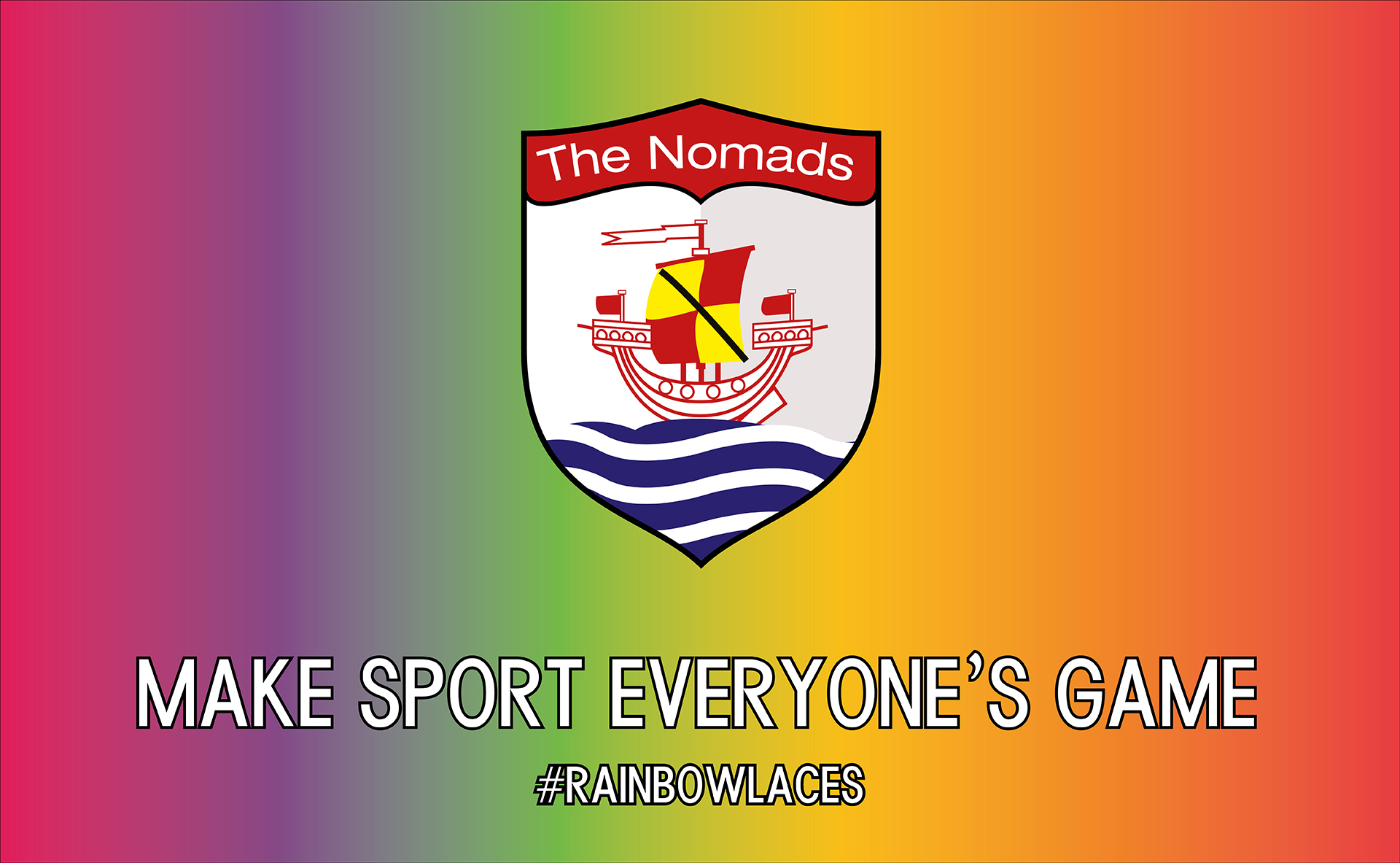 Connah's Quay Nomads are pleased to be supporting the Rainbow Laces campaign