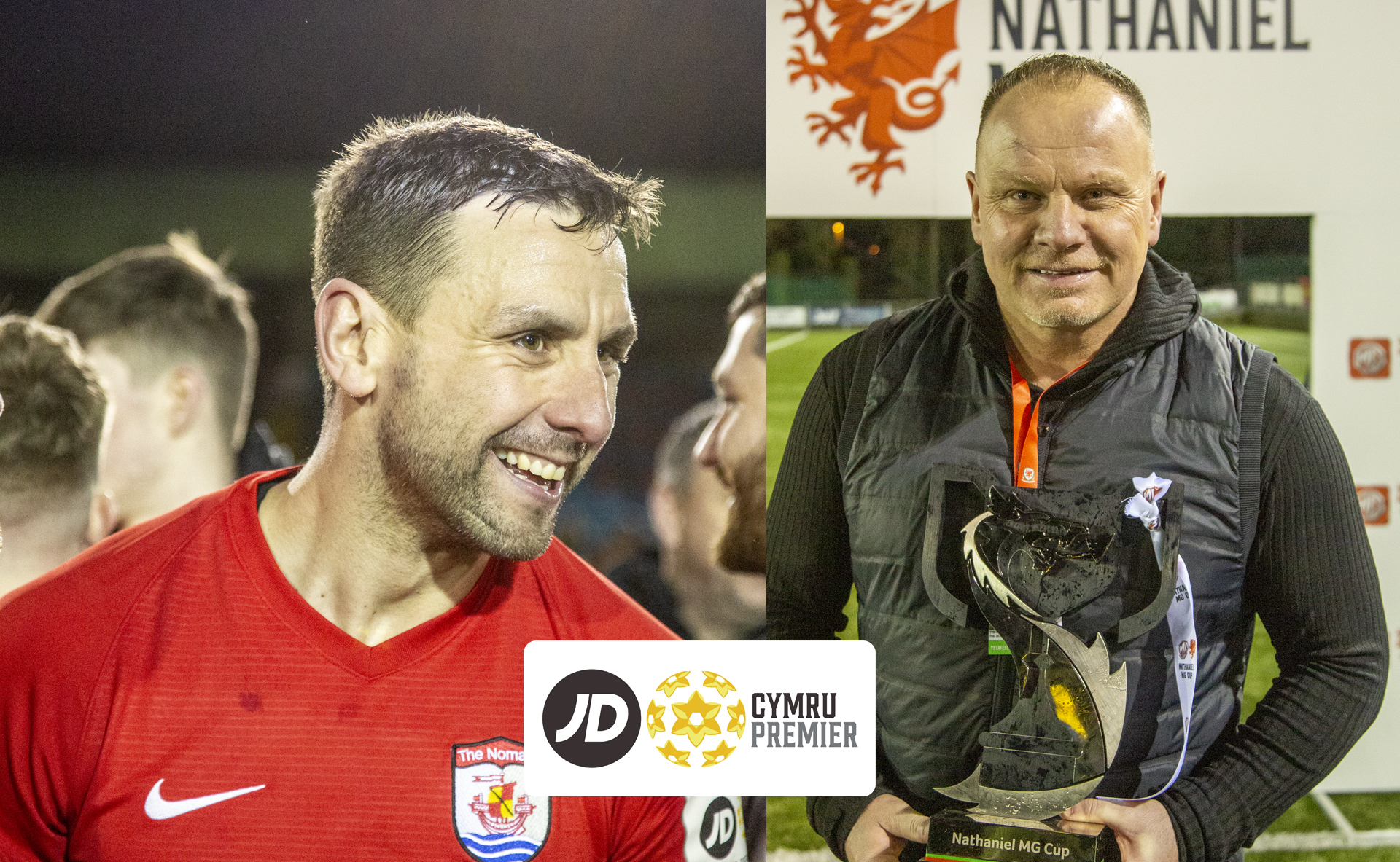 George Horan and Andy Morrison have been named as the JD Cymru Premier Player and Manager of the Month for February 2020