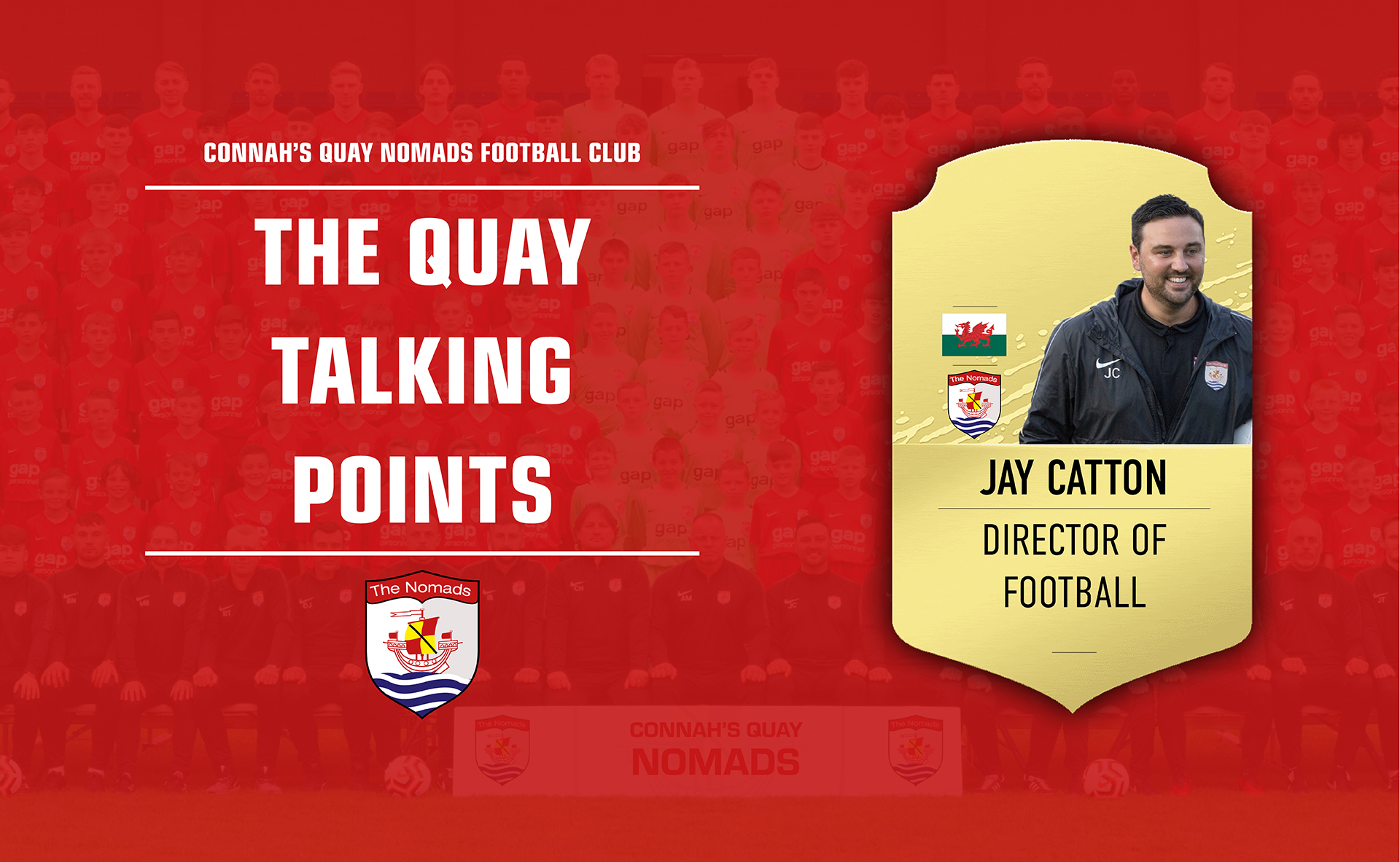 Jay Catton speaks to Nik Mesney on the first episode of The Nomads' new podcast, The Quay Talking Points