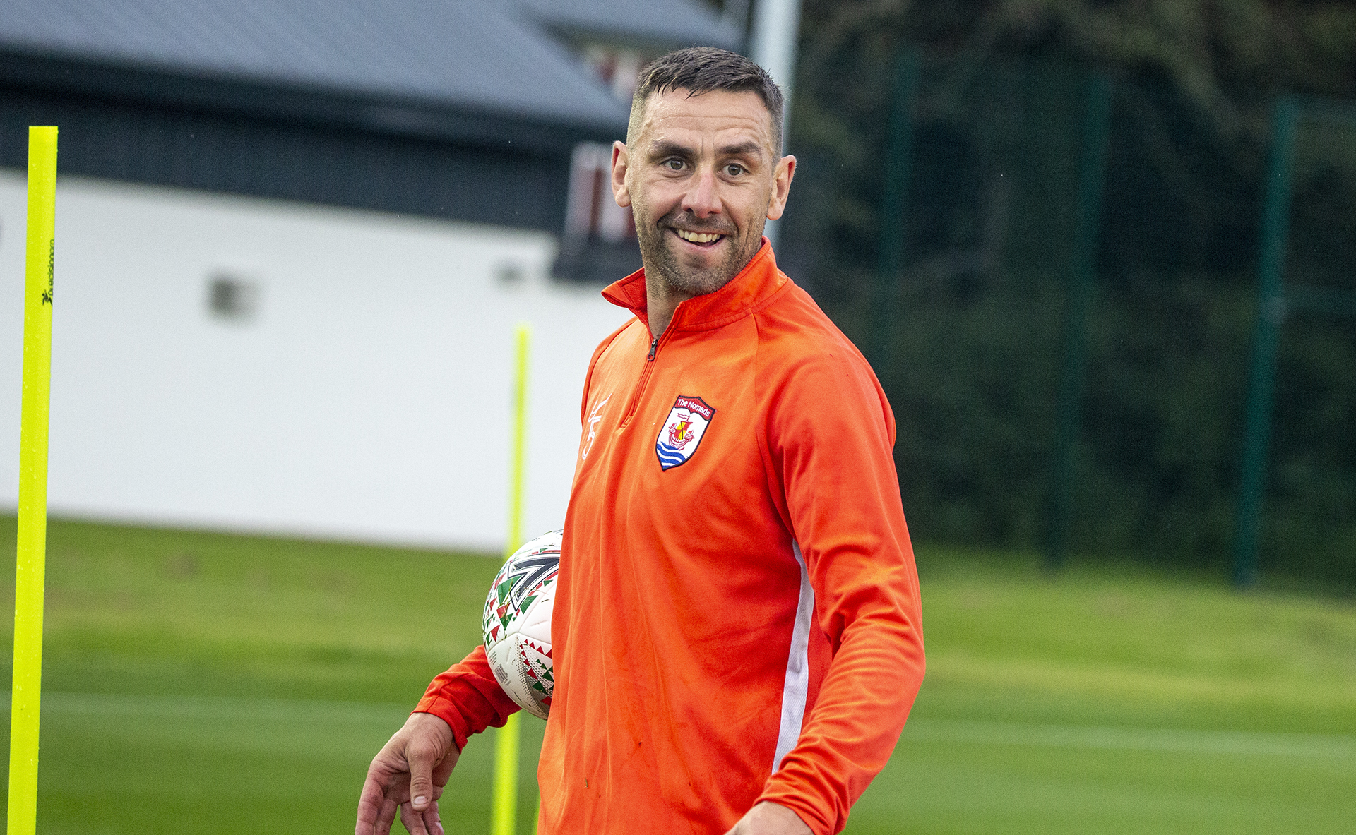 George Horan taking part in The Nomads� Champion�s League preparation training at Colliers Park